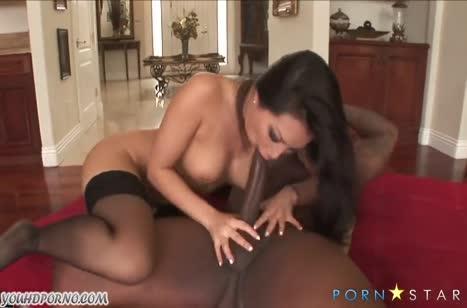 Asa Akira отдается черному на анальный секс №5